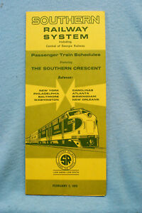 Southern Railway System Time Table - Feb 1, 1970