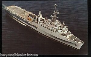 USS Shreveport LPD-12 postcard  US Navy warship amphibious transport dock card2