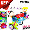 Toys for Kids Gift Car 360° Stunt Rotating Tricycle Music Lighting Toys Electric