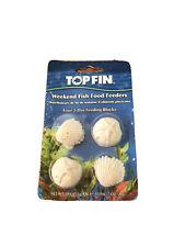 New listing Top Fin Four 3-Day Feeding Blocks Weekend Fish Food Feeders