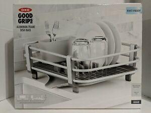 OXO Good Grips Rustproof Aluminum Dish Rack,Gray