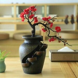 Creative Home Garden Decoration Plant Vase Crafts Resin Waterfall Fountain Gifts