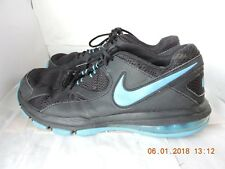 Nike Training Max Air 579940-014 men's black leather textile athletic shoes 11