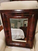19th century antique American Empire mahogany mirror.