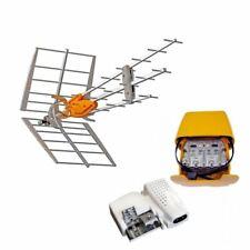 Televes Pack Antenne TNT Dat HD Boss UHF alimentation 24v Amplificateur Easy