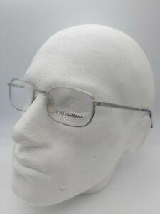 DOLCE & GABBANA DG 317 eyeglasses glasses frame - silver 90s new