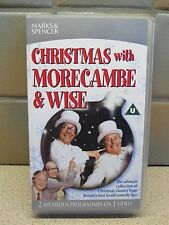 CHRISTMAS WITH MORECAMBE AND WISE VHS VIDEO TAPE COMEDY MARKS AND SPENCER