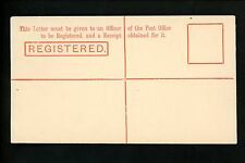 Postal History Great Britain H&G ? Registration Env Victoria 4 Pence Stamp Duty