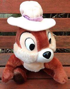 Vintage Walt Disney Chip N Dale Soft Plush Toy Euro Disney