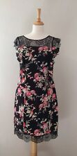 Ladies Black Silk Dress Size 10