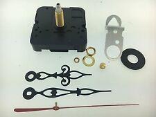 "Takane Quartz Battery Clock Movement Fancy Hands 1"" Shaft fits 5/8"" Dial USA"