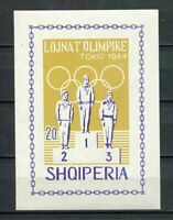 27036) ALBANIA 1964 MNH** Olympic Games Tokyo s/s imperforated