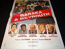 BARAKA A BEYROUTH  marie jose nat  affiche cinema 1971