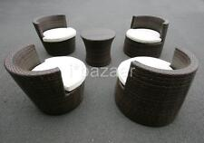 5PS WICKER RATTAN OUTDOOR FURNITURE CHAIR TABLE SETTING