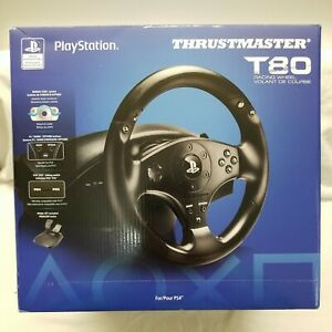 NEW🎮Thrustmaster T80 Racing Steering Wheel+Pedals 4169071❎Playstation 5 PS5✅PS4