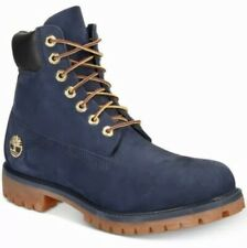 Timberland Men's 6-Inch Premium Waterproof Boots Navy Blue Black TB0A1B8P Size 8
