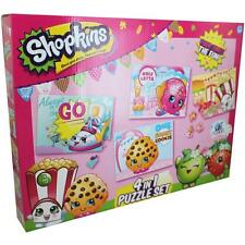 Shopkins Girls 4 in 1 Jigsaw Puzzle Set Childrens Toy Gift Creative Official