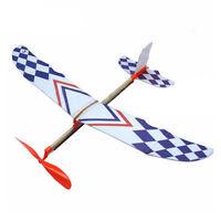 DIY Elastic Rubber Band Powered Foam Plane Model Kid Educational Aircraft Kit