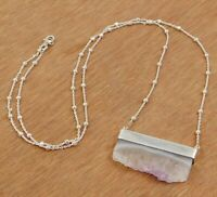 Amethyst Gemstone Handmade Daily Wear Gift Necklace Solid 925 Sterling Silver
