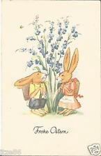 Ostern, Hase, Osterhasen-Begegnung, alte Glückwunschkarte von 1941