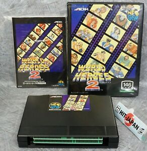 WORLD HEROES 2 NEO GEO AES FREE SHIPPING SNK Ref 1915