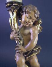 Putto - Engel als Kerzenständer  - Holz geschnitzt um 1950 - 38cm
