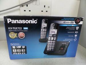 Panasonic KXTGE722EB Twin Digital Cordless Phone - Black (119060)