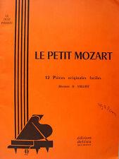 LE PETIT MOZART 12 PIECES FACILES POUR PIANO PAR H. VAILLANT