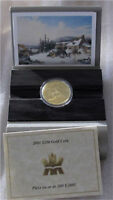 2001 CANADA $200 DOLLARS GOLD COIN C. KRIEGHOFF  PROOF