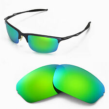 New WL Polarized Emerald Replacement Lenses For Oakley Half Wire 2.0 Sunglasses