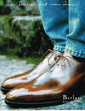 PUBLICITE ADVERTISING 024   1998   BERLUTI   chaussures homme