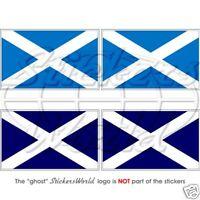 SCOTLAND Scottish British UK (Sky/Navy Blue) Flag 50mm Vinyl Stickers Decals x4