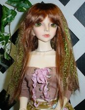 "Doll Wig, Monique Gold ""J-Rock"" Size 7/8 in Auburn-Lime"