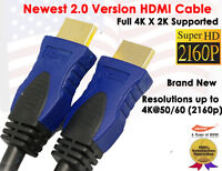 2016 ULTRA HDMI 2.0 Version Cable 3FT- Supports 4k x2k, Ethernet,3D,Audio Return