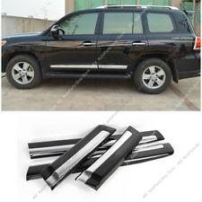For Toyota Land Cruiser LC200 1998-2018 Black ABS Side Door Body Molding Trim k