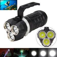 200m Submarino 9000LM 3X XM-L2 LED Scuba Diving Linterna Lámpara Antorcha 18650