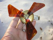 "Antique ""LaBrise"" Brevete Mechanical Finger Actuated Pocket or Purse Fan - c1920"