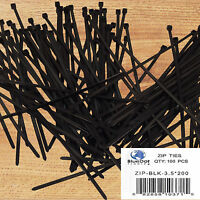 USA 100 PACK 8 INCH ZIP TIES NYLON 40 LBS UV WEATHER RESISTANT BLACK WIRE CABLE