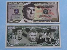 "STAR TREK TV Show <> LEONARD NEMOY ""Spock"" <> $1,000,000 One Million Dollar Bill"