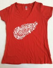 NHL Juniors Large 11/13 Detroit Red Wings Red V-Neck T-Shirt GUC