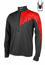 NWT $95 SPYDER ANGLE T-NECK DryWEB™ SLATE PULLOVER  506007. SZ XL