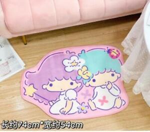 little twin star fuzzly Floor Mat Home Carpets Bedroom Rug mas rugs cartoon new