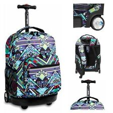Wheeled Backpack Rolling School Book-Bag Travel Carry On Luggage Trolley Tote