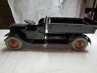 Packard Vintage 1920's Pressed Steel Open Cab Crank Dump Truck Rare Unique