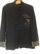 """Beautiful Chinese Silk Lined Jacket With Dragon Design. Size S 42"""" Chest"""