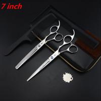 7.0 inch Barber Salon Hairdressing Scissors CUTTING THINNING Japan 440C Shears