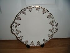 Vintage Royal Albert Tabbed Cake Plate ~ White & Gold ~ Excellent ~ 1st Quality