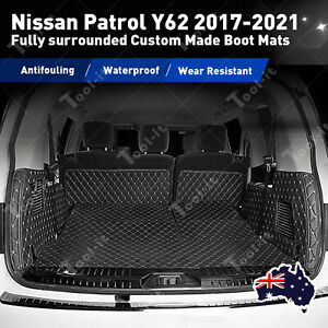 Fit Nissan Patrol Y62 2017-2021 Trunk seat cover Boot Mats Liner Cargo Protector