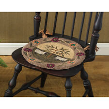 Willow and Sheep Hooked Chairpad