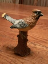 vintage Gifts From Around The World brand cardinal bird figurine On Tree Stump
